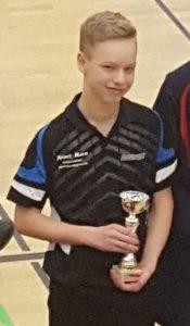 Jakob freut sich über seinen starken 2. Platz