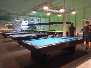 Ansicht Tische im Billiardclub