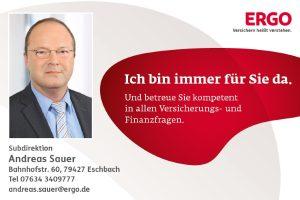 Sponsoren TTC Eschbach - Andreas Sauer - Ergo Versicherungen