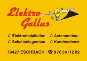 Sponsoren TTC Eschbach - Elektro Gallus